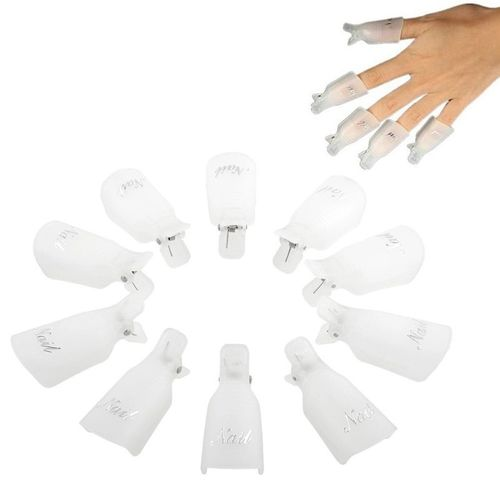 Gel Polish Remover Clips 10pcs