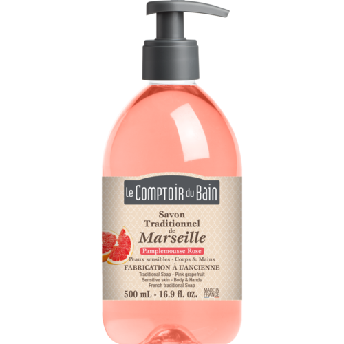 Traditional Marseille Soap - Pink grapefruit - 500 ml