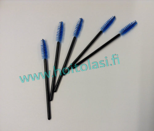 Disposable mascara brushes, blue 50 pcs