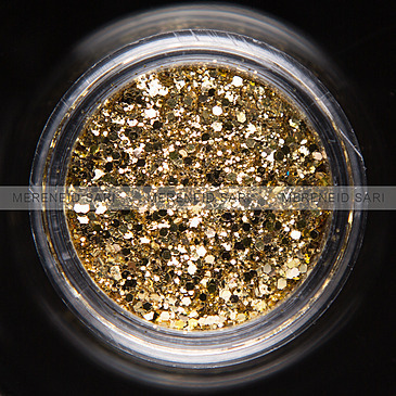 Glitter Hexi-mixed Light Golden