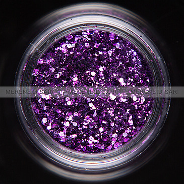 Glitter Hexi-mixed Purple