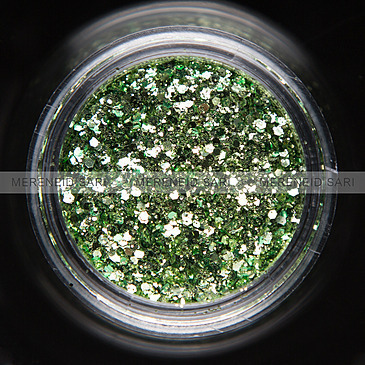Glitter Hexi-mixed Light Green