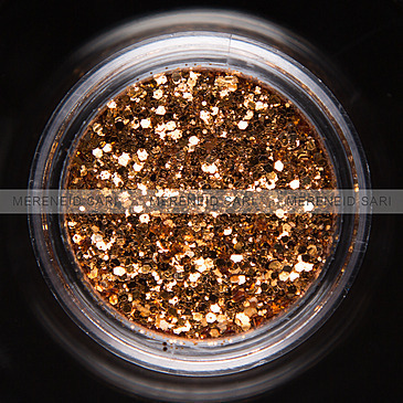 Glitter Hexi-mixed Light Bronze