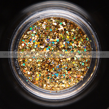 Glitter Hexi-mixed Neon Golden