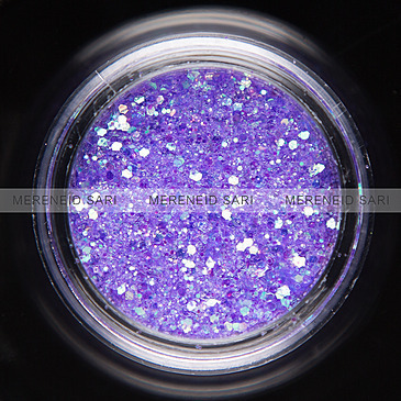 Glitter Hexi-mixed sizes Rainbow Purple 3 g