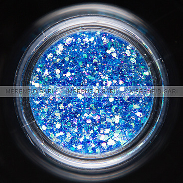 Glitter Hexi-mixed sizes Shining Dark Blue 3 g
