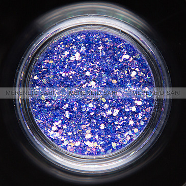 Glitter Hexi-mixed sizes Shining Purple 3 g