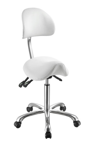 Saddle-shaped Stool With Backrest NOBLE