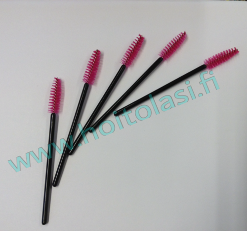 Disposable mascara brushes, pink 50 pcs