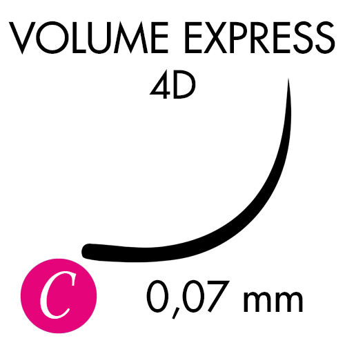 VOLUME EXPRESS 4D /C-kaari /0,07mm